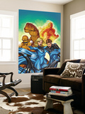 Marvel Adventures Fantastic Four 48 Cover: Invisible Woman, Mr. Fantastic, Thing and Human Torch Prints by Roger Cruz