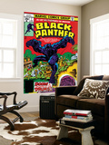 Black Panther No.7 Cover: Black Panther Fighting Poster by Jack Kirby