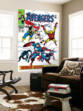 Giant-Size Avengers 1 Cover: Thor, Iron Man, Captain America and Black Panther Prints by John Buscema
