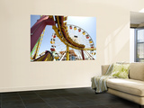 Amusement Rides at Pacific Park, Santa Monica Pier Print by Lou Jones