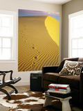 Wind Patterns and Footprints on White Sand Dunes Poster por Christer Fredriksson