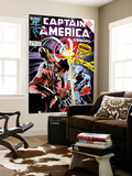 Captain America Annual 8 Cover: Captain America and Wolverine Flying Print by Mike Zeck