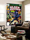 Black Panther No.2 Cover: Black Panther, Princess Zanda and Hatch-22 Charging Prints by Jack Kirby