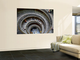 Staircase at Vatican Museum Prints by Tony Burns