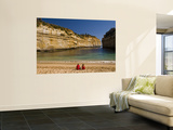 Tourists on the Beach at Loch Ard Gorge Poster by Glenn Van Der Knijff