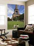 People on Lawn in Front of Eiffel Tower Prints by Will Salter
