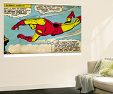 Marvel Comics Retro: The Invincible Iron Man Comic Panel, Flying (aged) - Poster