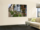 Roses and Flowers and Half-Timbered Houses Along Rue Du Logis Du Roy Prints by Barbara Van Zanten