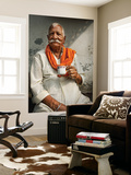 Man Drinking His Afternoon Chai Print by April Maciborka