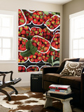 Strawberries for Sale at Market at Campo De&#39; Fiori Prints by Richard l&#39;Anson