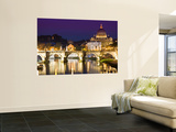 St Peter's Basilica from the Tiber River at Dusk Prints by Glenn Beanland