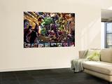 Avengers: The Initiative No.4 Group: Hulk, Korg, Miek, No-Name, Hiroim and Elloe Kaifi Poster by Stefano Caselli