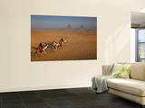 Tourists on Camels and Pyramids of Giza Prints by Richard l'Anson
