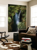 Row Boat and Waterfall in Takachiho Gorge Print by Shayne Hill