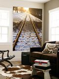 Train Tracks in Snow in Winter Posters by Richard l'Anson