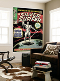Marvel Comics Retro: Silver Surfer Comic Book Cover No.1, Origin (aged) Poster