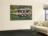 Traditional Japanese Tea House at Ritsurin Park Print by Seong Joon Cho