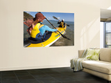 Women in Double Sea Kayak in Banksia Bay Print by Andrew Peacock