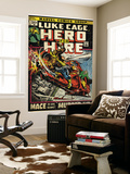 Marvel Comics Retro: Luke Cage, Hero for Hire Comic Book Cover No.3, Mace in Helicopter (aged) Posters