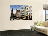 Old Town Street Scene Print by Manfred Hofer