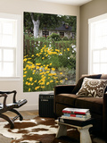 Exuberant Garden and Half-Timbered Cottage in Marais Vernier Region Poster by Barbara Van Zanten