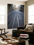 Tracks of Elevador Da Bica Funicular Railway Poster by Holger Leue