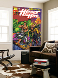 Heroes For Hire No.1 Cover: Cage, Luke, Iron Fist, Hulk and Black Knight Prints by Pascual Ferry