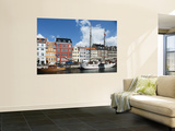 Colorful Facades and Docked Boats at Christianshavn Prints by Christian Aslund