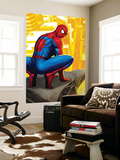 Spider-Man In the City, Crawling on Gargoyle Prints