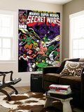 Secret Wars 6 Cover: Dr. Doom, Absorbing Man, Lizard, Doctor Octopus, Wrecker and Ultron Print by Mike Zeck