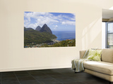 Rooftops of Soufriere and the Pitons Prints by Brent Winebrenner