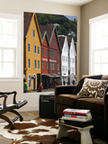 Old Buildings in Bryggen Print by Christer Fredriksson