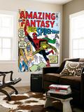 Amazing Fantasy No.15 Cover: Spider-Man Swinging Plakater af Steve Ditko