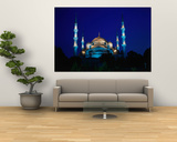 The Blue Mosque of Sultan Ahmed I and Hagia Sophia or Ayasofya, Istanbul, Istanbul, Turkey Posters by Izzet Keribar