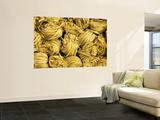 Clusters of Yellow Egg Noodles at Street Side Stall Kunst af Antony Giblin