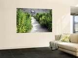 Walled Gardens (Or Chartreuse) at Chateau Canon in Mezidon-Canon Posters by Barbara Van Zanten