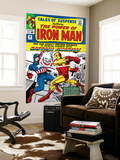Tales Of Suspense 58 Cover: Iron Man and Captain America Fighting Prints by Don Heck