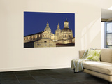 Jesuit Church La Clerecia and University (Universidad) Pontificia Floodlit at Night Posters by David Borland