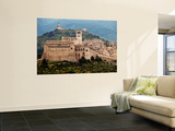 Church of St Francis in Walled Town of Assissi Prints by Frank Wing