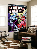 Vision And The Scarlet Witch No.1 Cover: Samhain, Scarlet Witch and Vision Prints by Rick Leonardi