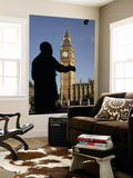 Statue of Nelson Mandela and Big Ben, Parliament Square Posters by Doug McKinlay