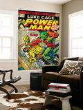 Marvel Comics Retro: Luke Cage, Power Man Comic Book Cover No.29, Fighting Mr. Fish (aged) Prints