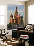 Coloured Walls and Domes of St Basils Cathedral (Pokrovsky Cathedral) in Red Square Poster by Tim Makins
