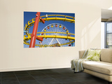Ferris-Wheel and Roller Coaster, Pacific Park on Santa Monica Pier Prints by Richard Cummins