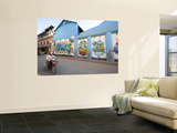 Motorcyclist Passing Night Club with Graffiti Mural Prints by Ariadne Van Zandbergen
