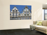 Ornate Gables of Historic Guildhalls on Grand Place Print by Craig Pershouse