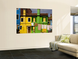 Colorful Houses and Laundry Posters by Dennis Walton