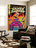 Marvel Comics Retro: Silver Surfer Comic Book Cover No.6, Worlds Without End! (aged) Art