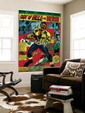 Marvel Comics Retro: Luke Cage, Hero for Hire Comic Panel, Screaming (aged) Art