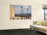 City Walls with Streetlamps and View Towards Portugal Prints by David Borland